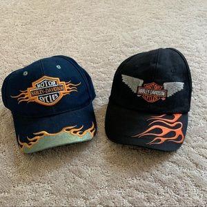 Vintage Harley Davidson  hat bundle